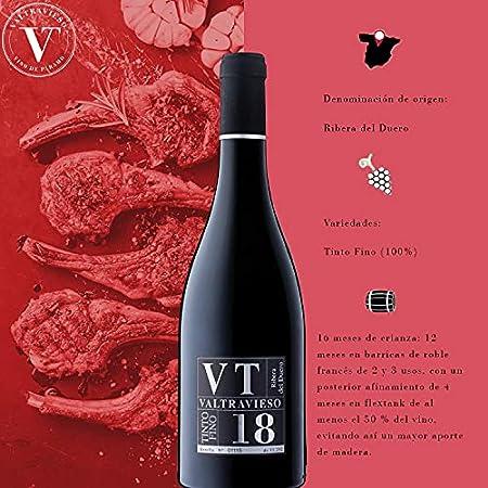 Vino Tinto D.O. Ribera del Duero VT Tinto Fino Valtravieso | 1 Botella 0.75l/Ud