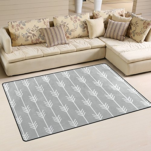 Sunlome Arrow Pattern Area Rug Rugs Non-Slip Indoor Outdoor Floor Mat Doormats for Home Decor 60 x 39 inches