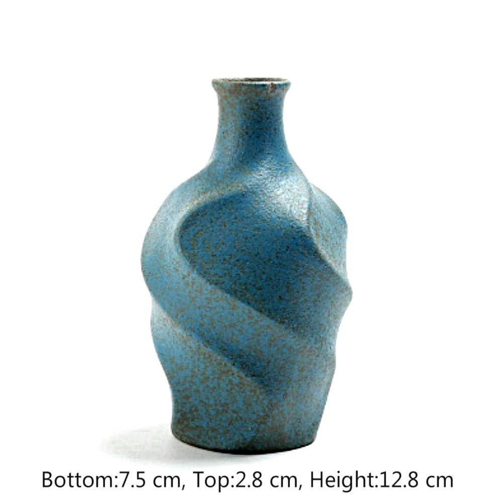 NEWQZ Ceramic Vase,Tea Ceremony, Floral, Zen Natural Stoneware Vase, Flower Vase Home Decor
