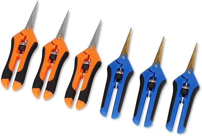 5 Pack Titanium Curved Blade Trimming Scissors Precision Bud Plant Shears Snips