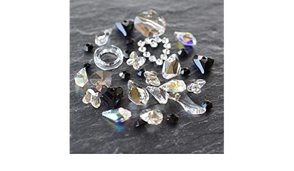 4e17d3d7bd9b Amazon.com  Swarovski Crystals Vintage Bead   Pendant Mix Twilight ...