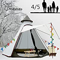 Vidalido 12'x10'x8'Dome Camping Tent 5-6 Person 4 Season...