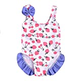 Toddler Kids Baby Girls Summer Sleeveless Bikini Fruits Bowknot Beach Swimsuits Bathing Suits