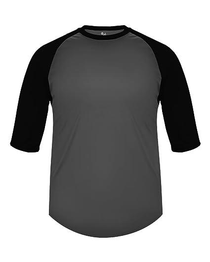 a1b4c843 Adult 2XL Graphite with Black Sleeves Raglan 3/4 Baseball & Softball  Undershirt/Jersey
