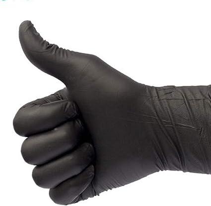 jard/ín manicura Manooby 100 Pcs Guantes desechables de l/átex de nitrilo sin polvo guantes de trabajo para cocina