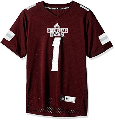 adidas NCAA Mississippi State Bulldogs Adult Men NCAA Replica Football Jersey, Large, Maroon (Football Shirt Jersey Ncaa)