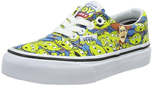 Vans Kids Authentic (Toy Story) Aliens/Tr Wht Skate Shoe 3 Kids US (Alien Shoes)