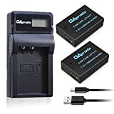 OAproda 2 Pack LP-E17 Battery with Slim LCD Display USB Charger for Canon LPE17, EOS M3, EOS M5, EOS Rebel T6s, EOS 760D, EOS 8000D, KISS X8i Digital SLR Camera ( Fast Charge )