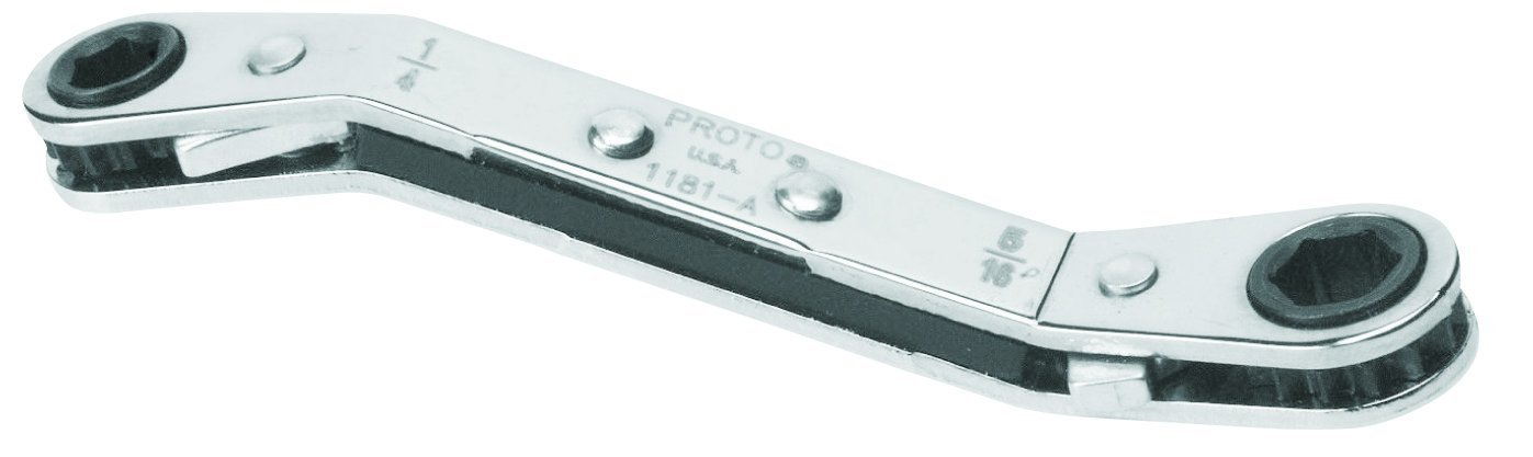 Stanley Proto J1184MA-A Offset Double Box Reversible Ratcheting Wrench 12 by 14mm 6 Point