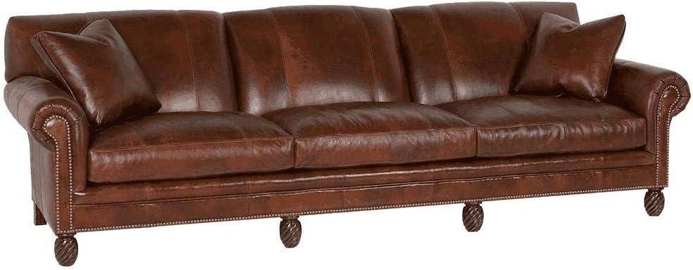 Rhodes Sofá de piel de 4 plazas: Amazon.es: Hogar