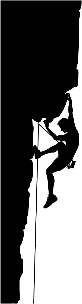 Rock Climbing Wall Decal Sticker 3 - Decal Stickers and Mural for Kids Boys Girls Room and Bedroom. Mountain Climbing Climber Wall Art for Home Decor and Decoration - Rock Climber Silhouette Mural