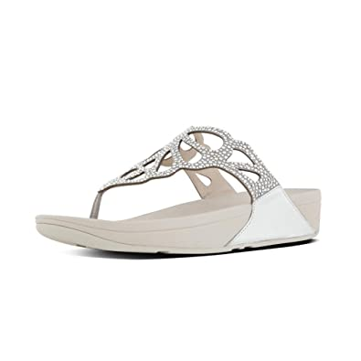 d3063951fd95 Fitflop Womens Bumble Crystal Silver Thong Sandal (UK06)  Amazon.co ...