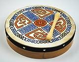 10' Irish Celtic Pattern Original Bodhran + Beater