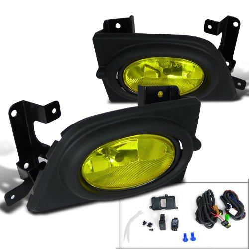 - Spec-D Tuning LF-CV064AMOEM-RS Honda Civic 4D 4Dr Yellow Oem Fog Lights