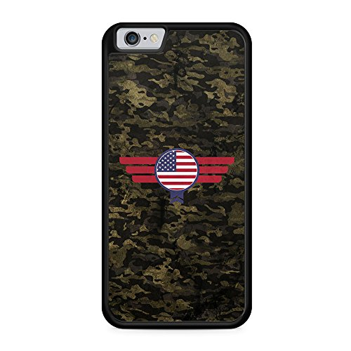 USA Amerika Camouflage - Hülle für iPhone 6 & 6s SILIKON Handyhülle Case Cover Schutzhülle - America Flagge Flag Military Militär