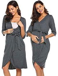84959ae842a13 Maternity Robe 3 in 1 Labor Delivery Nursing Gown Hospital Breastfeeding Dress  Bathrobes