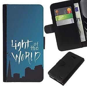 KLONGSHOP // Tirón de la caja Cartera de cuero con ranuras para tarjetas - BIBLIA Luz Del Mundo - LG OPTIMUS L90 //