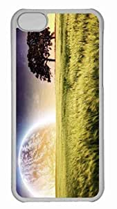 Customized iphone 5C PC Transparent Case - Wheat Field Summer Personalized Cover