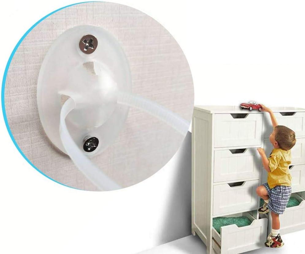 Cerraduras y correas de armario/√ 10 unidades de prueba de beb/és de paredes antivuelco antivuelco para muebles Kit de anclajes