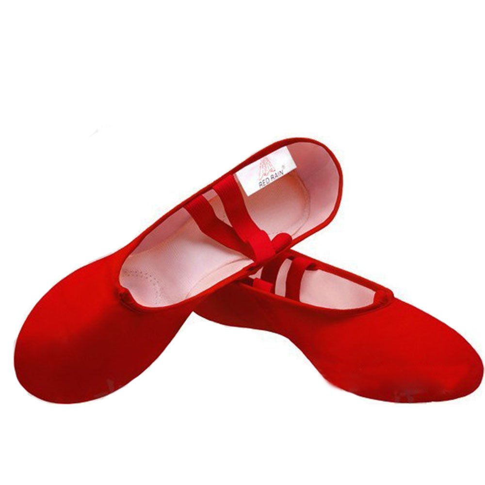 Hougood Kids Ballet Shoes Dance Gymnastics Fitness Yoga Shoes Ballet Slippers Size 30-41