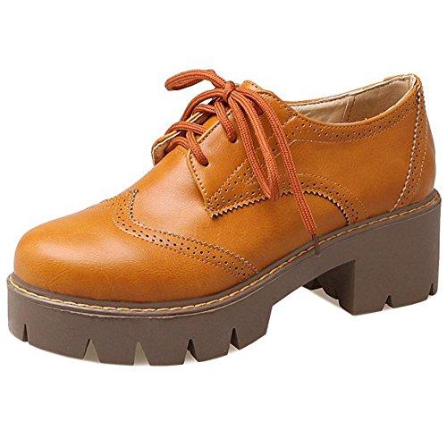 Top Yellow Block Coolcept Casual Low Bootie Women Autumn Heel nw4qHxU0Oq