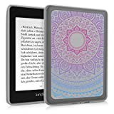 kwmobile Case for Amazon Kindle Paperwhite (10. Gen - 2018) - Soft TPU Silicone Skin Protective e-Reader Back Cover - Blue/Dark Pink/Transparent
