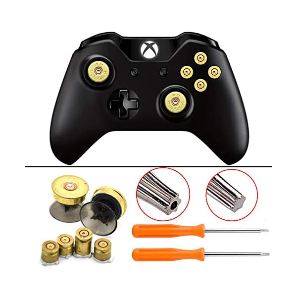 Bullet Buttons for Xbox One Controller, COCOTOP Raplacement Parts Bullet Thumbsticks and A B X Y Buttons Set Mod Kits… 5