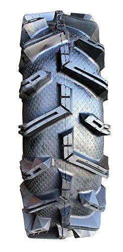 4x110 Bolt Pattern 12mmx1.5 Lug Kit 9 Items Bundle MSA Black Kore 14 UTV Wheels 28 MotoBoss Tires