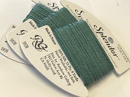 (Splendor Silk Thread-Color S838-DARK SEA Green-1 Card in This Offer)