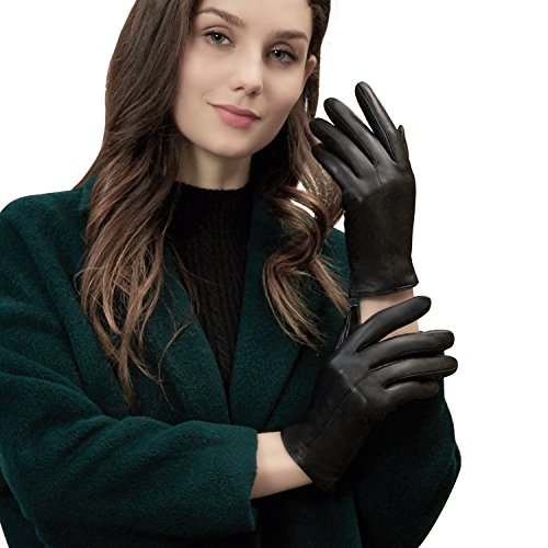 - GSG Ladies Premium Sheep Nappa Leather Touchscreen Driving Gloves Winter Women's Cycling Motorcycle Smart Tips M