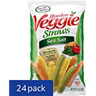 Sensible Portions Garden Veggie Straws, Sea Salt, 1 oz. (Pack of 24)