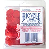 Bingo Chips Heavy Red Colour 200 Count Bicycle Brand
