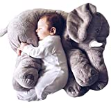 Baby Stuffed Elephant Plush Pillows Grey, 24 Inches