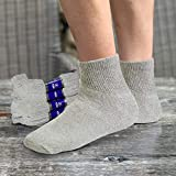 Debra Weitzner Diabetic Ankle Crew Socks Mens