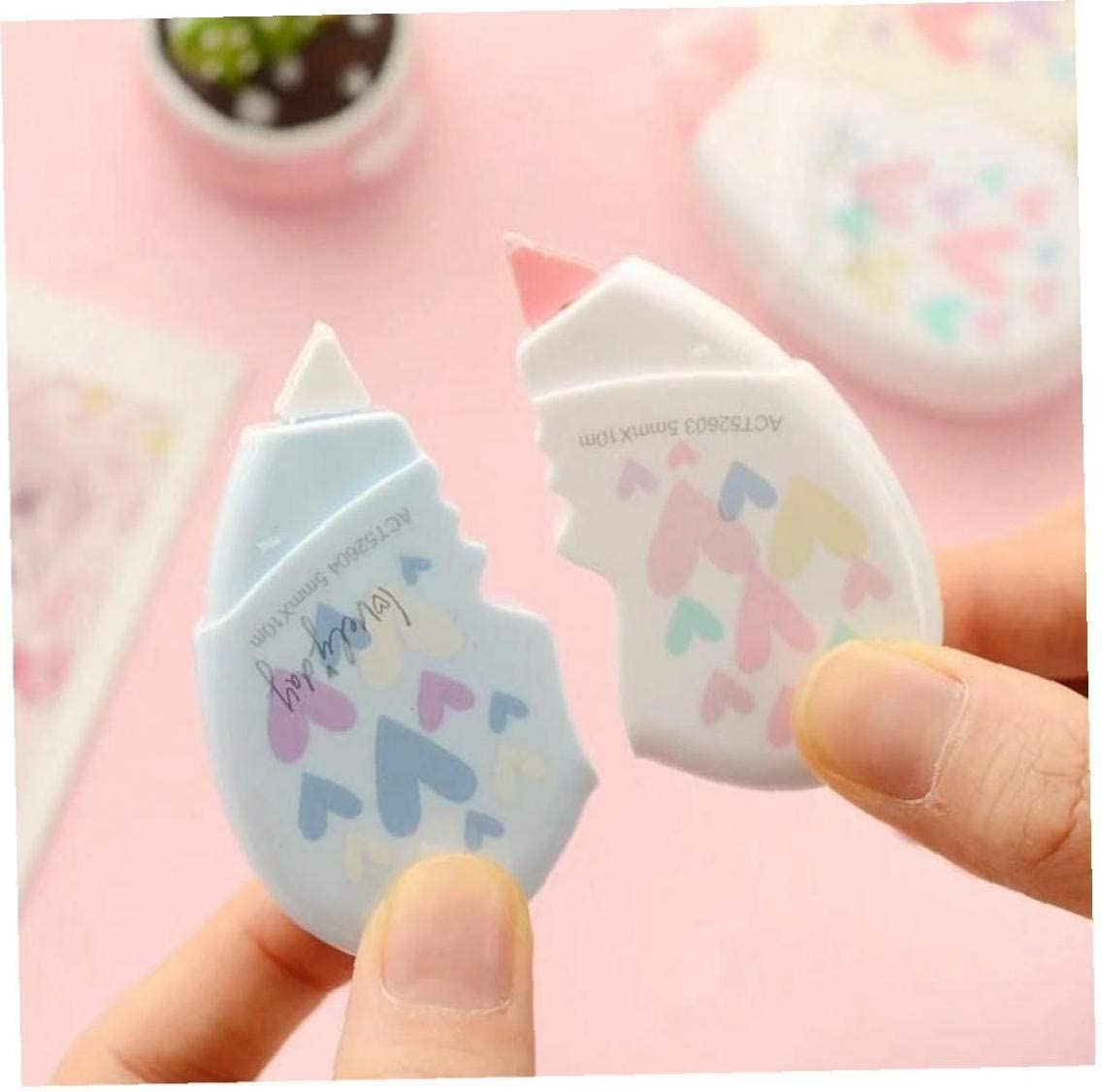 BFYRI 2 Pc-liebes-Herz-Correction Tape-Material Kawaii Stationery Office School Supplies