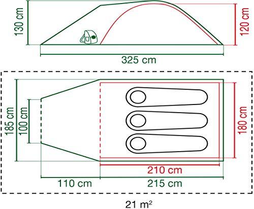 51ntvjaCw6L Coleman Blackout Zelt, 3/4 Personen, 3/4 Mann Zelt, Igluzelt, Festivalzelt, leichtes Kuppelzelt mit Vorzelt, patentierte…
