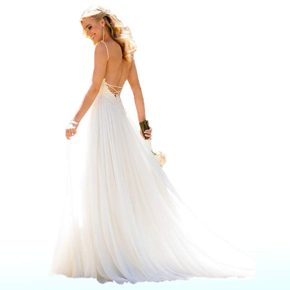 Beach Wedding Dresses for Bride 2019;Vintage Simple Aline ...