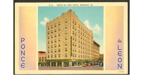 Amazon Com Ponce De Leon Hotel Roanoke Va Postcard 1930s