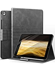 Case for iPad Pro 9.7 iPad Air 2 - with Pencil Holder, Vegan Leather, Auto Sleep/Wake, auaua Smart Cover for iPad 9.7 Inch (Gray)