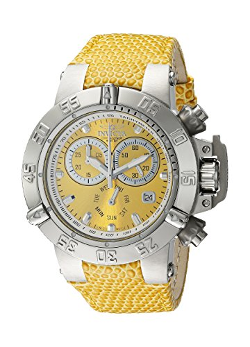 Invicta Women's 18291 Subaqua Analog Display Swiss Quartz Yellow Watch