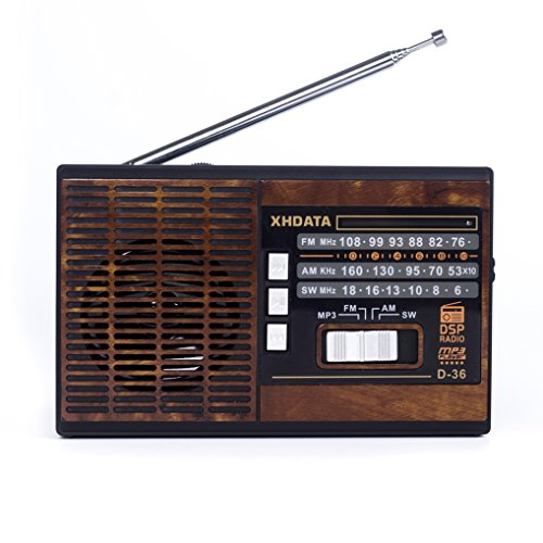 XHDATA D-36 FM / AM / SW 3 Band Radio with MP3-Music-Player by XHDATA