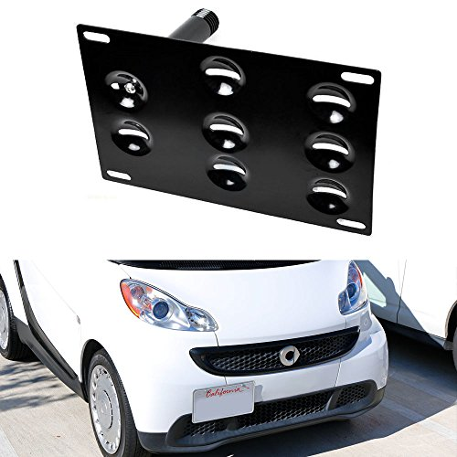 ijdmtoy-no-drill-front-bumper-tow-hole-adapter-license-plate-mounting-bracket-for-2007-up-smart-car-