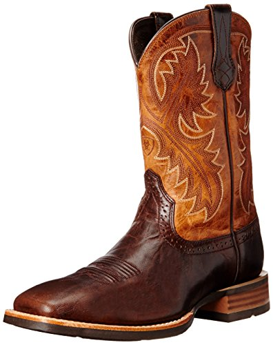 Ariat Men's Quickdraw Western Cowboy Boot, Thunder Brown/Two Tone Tan, 13 D US -