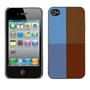 Cubierta de la caja de protección la piel dura para el Apple iPhone 4 / 4S - Brick Street