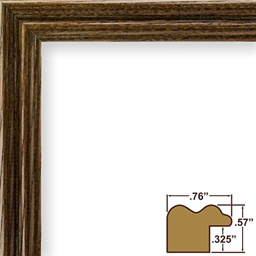 Craig Frames 200ASH216 11 by 14-Inch Picture Frame, Wood Grain Finish, .75-Inch Wide, Walnut (Traditional Dark Walnut Finish Wood)