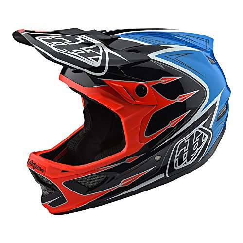 Troy Lee Designs Downhill Mountain Bike Composite D3 Helmet Corona (X-Large, Orange)
