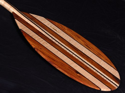 Premium Canoe Paddle Wall Decor - Tikimaster Premium KOA-Maple-Walnut Paddle 5.1FT - Classic SURF Art Decor