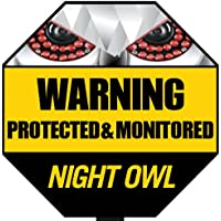 Night Owl Security A-GYSS Reflective Outdoor Yard Stake Sign (Yellow/Black)