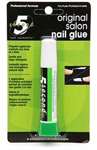 5 Second Salon Nail Glue 0.07 oz (Pack of 3) by 5 Second