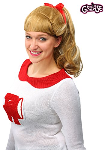 Fun Costumes Good Sandy Grease Movie Hair Wig Standard Yellow